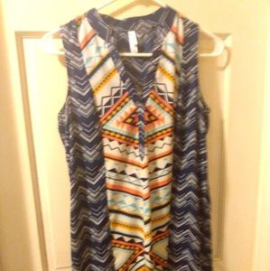 Tribal printed sleeveless dress
